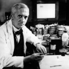 Sir Alexander Fleming, (6 August 1881 – 11 March 1955) was a Scottish biologist, pharmacologist and botanist. His best-known discovery is the antibiotic substance penicillin in 1928.